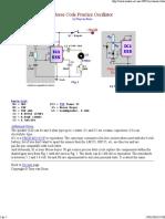 Morse Code Practice Oscillator