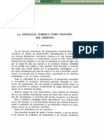 ONTOLOGIA JURIDICA COMO FILOSOFIA DEL DERECHO