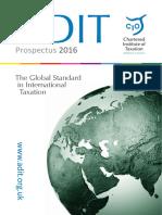 ADIT Prospectus 2016