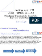 Data Loading Into HFM by FDMEE Part III
