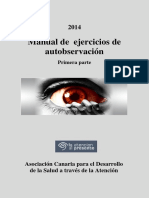 2014 Manual de Ejercicios de Autobservación 1ª Parte