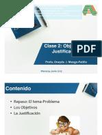 Clase 3 Objetivos Justificación