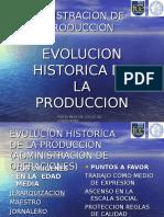 Evolucion Historica de La Produccion