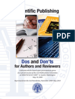 Dos and Don'ts for Authors and Reviewers