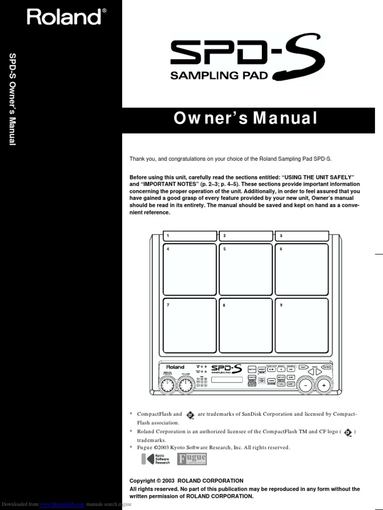 Manual español roland spd s.