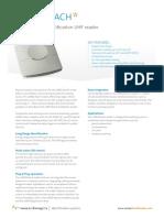 UPASS Reach Datasheet Nedap v4.2