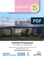 Chingford CC Activities - Spring 2016