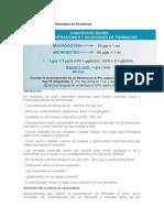 Concentraciones y Diluciones de Farmacos