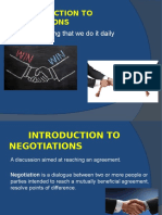 Introduction to negotiation