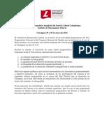 Programa Congreso Programático Ampliado PLC