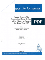 1997 Annual Report of the Congressional Research Service