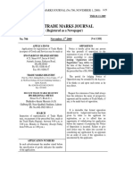THE TRADE MARKS JOURNAL (No.706, NOVEMBER 1, 2009)