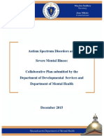 DDS DMH Joint Agency Autism Plan Report