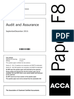 D15 Hybrid F8 QP Assurance