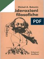 Michail Bakunin - Considerazioni Filosofiche