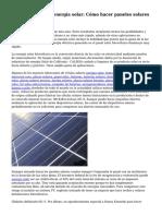 Informaci?n de la energ?a solar