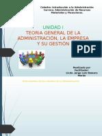 Clase Unidad I - Introduccion a La Teoria General de La Administracion