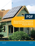 NY SUN Residental SC Solar Program Manual 2016