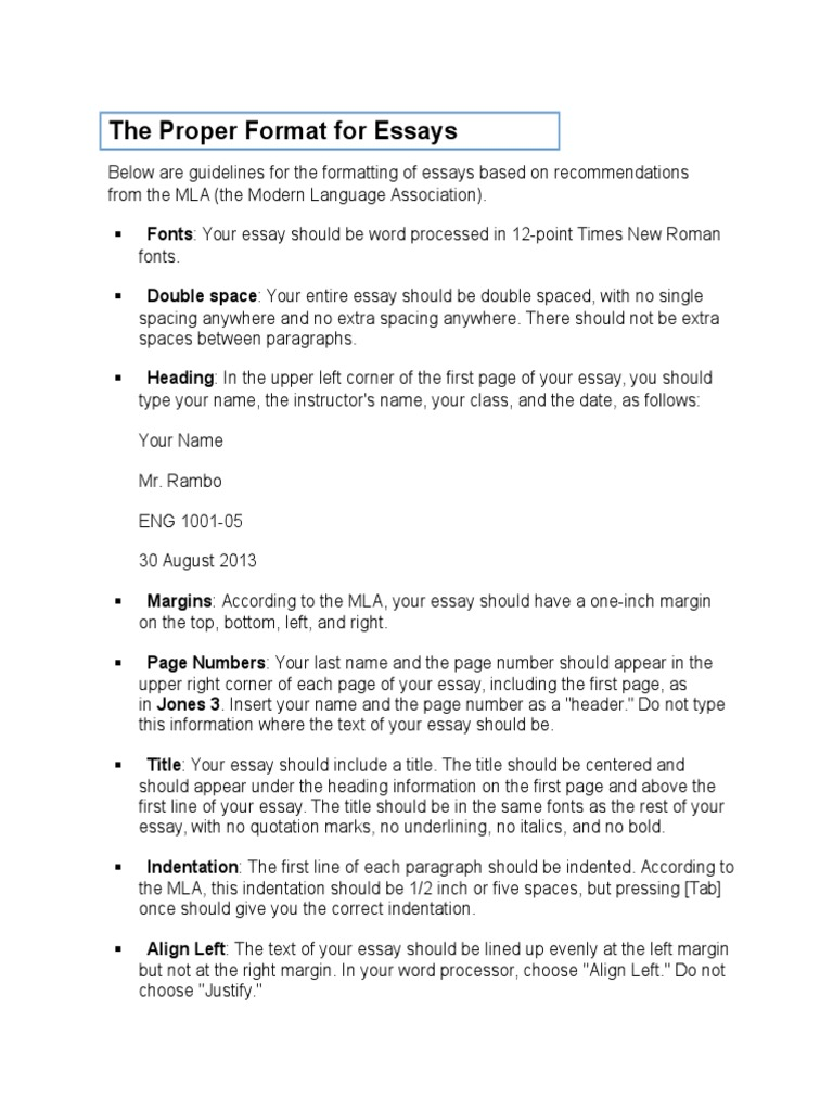 the proper format for essays typefaces times new roman