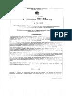 Reglamento Res. 00448 Del 19 02 2015 Para El Uso de La Fuerza y El Emple...