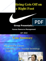 Presentation on Nike Case Study