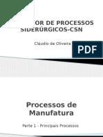 1 - Principais Processos de Manufatura Dos Aços