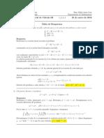 Corrección Primer Parcial de Cálculo III, 25 de enero de 2015.