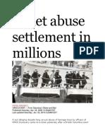 8 Apr 2006 - Cadet Sex Abuse Settlement in Millions