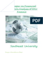 Term paper on Financial Institution Analysis of IDLC Finance
