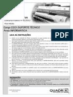 Quadrix 2012 Cfp Tecnico Em Informatica Suporte Prova