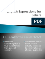 English Expressions for Thoughts and Beliefs