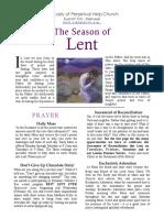 OLPH Lenten Activities Booklet 2016