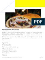 Receta Pan de Jamon