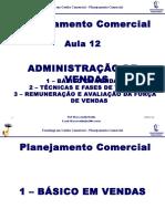 Aula Planejamento Comercial Administracao de Vendas