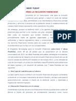 7 Ideas Para La Inclusión Financiera