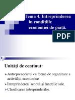 Tema 4. Întreprinderea În Condițiile Economiei de Piață.