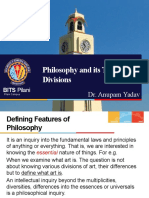 Philosophy and Its Traditional Divisions