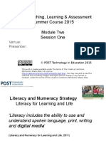 module two session one - ict to support teaching learning and assessment through literacy  1