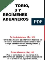Territorio Aduanero y Regímenes Especiales