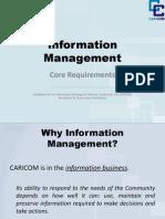 E. Bryan - Information Management - Core Requirements