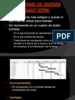 Diagrama de Barras Gant (Cpm)