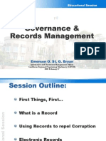 E. Bryan - Governance and Records Management [BARIM Information Session]
