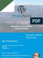 Estado de WordPress - Trabajando en La Comunidad