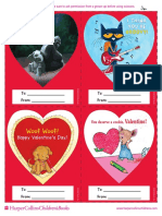 Printable Valentines from HarperCollins Children's Books