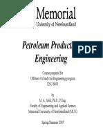 Introdcution and Basics Petroleum Production Eng.- University Newfoundland - M.a. Abdi