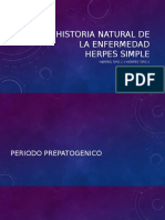 Historia Natural de La Enfermedad Herpes Simple
