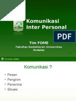 FOME Komunikasi Interpersonal