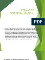 Formas de Descentralización