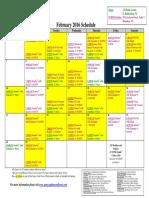 SCDNF February 2016 Schedule