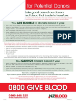 NZ Blood Checklist 2015